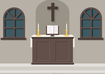 Free Church Altar Vector Illustration - Kostenloses vector #274049