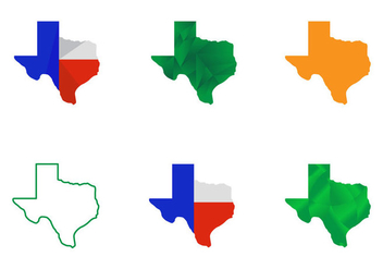 Free Texas Map Vectors - vector gratuit #274069