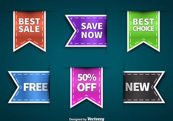 Colorful sale labels - vector gratuit #274129