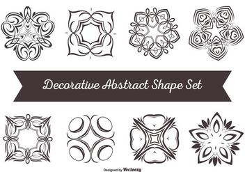 Decorative Abstract Shape Set - Free vector #274179