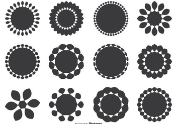 Assorted Decorative Round Shape Set - vector gratuit #274239