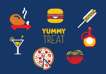 Food icon set - vector gratuit #274279