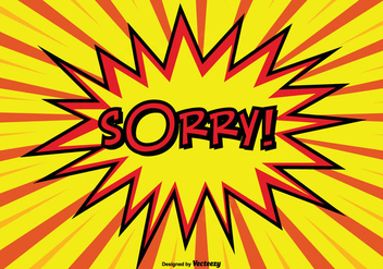 Comic Style Sorry Illustration - Kostenloses vector #274369