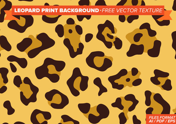 Leopard Print Background Free Vector Texture - Kostenloses vector #274439