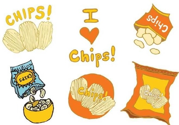Free Bag of Chips Vector Series - бесплатный vector #274619