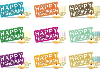 Happy Hanukkah - Free vector #274629
