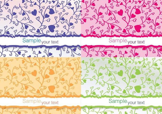 Colourful Flower Vector Cards - vector gratuit #274639