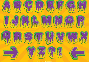 Halloween Alphabet Set - Free vector #274649