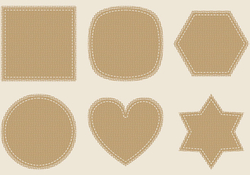 Burlap Vector Labels - vector gratuit #274699
