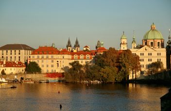 View on Prague at sunset - Kostenloses image #274769