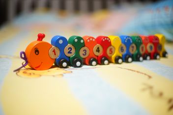 #Caterpillar #train, 1 to 10 Numbers, wooden toys. #mylastphoto?? - бесплатный image #274779