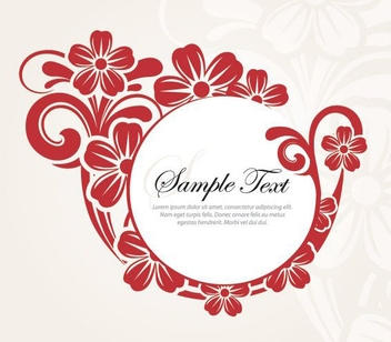 Decorative Round Flower Banner - vector gratuit #274819