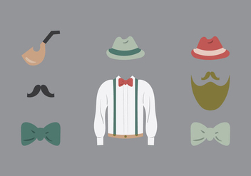 Free old style clothes vector Illustration - vector gratuit #275169