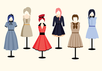 Old Style Clothes Vectors - бесплатный vector #275189