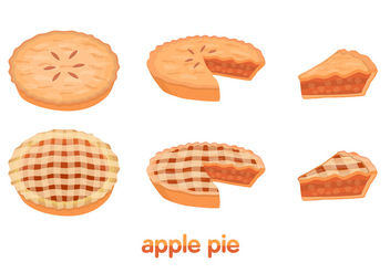 Apple Pie Vectors - vector gratuit #275209