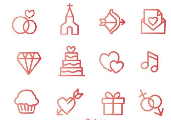 Love Outline Icons - vector #275239 gratis