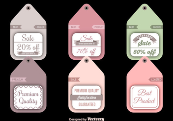Sale and discount labels - бесплатный vector #275279