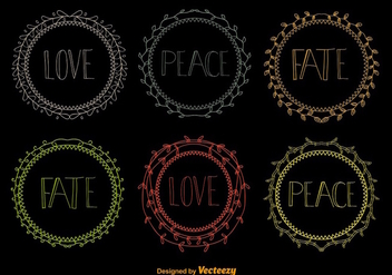 Hand drawn wreaths - vector gratuit #275289