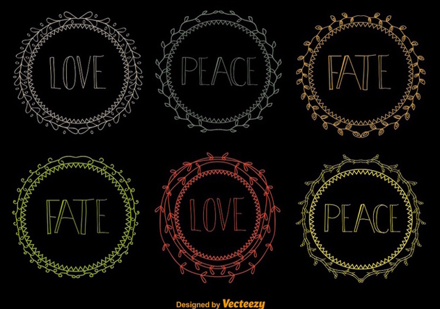 Hand drawn wreaths - Free vector #275289