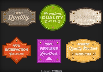 Leather labels - vector gratuit #275299