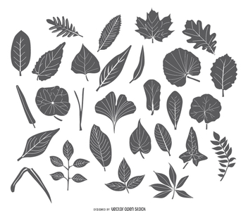 Leaves pack - vector #275309 gratis