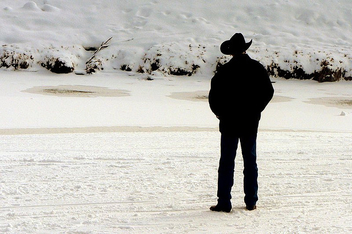 Cowboy on the Snow - Free image #276199