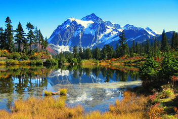 Mount Shuksan, Picture Lake - image gratuit #278169
