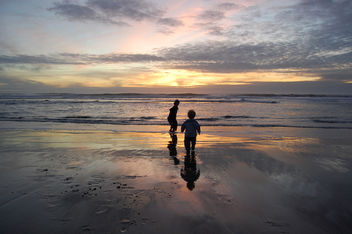 Two Kids and the Sea - Free image #279509