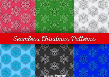 Snowflakes seamless wallpapers - бесплатный vector #281049