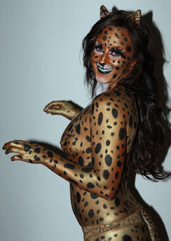 Hot Kandi Body painting Cheetah - Free image #281879