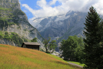 Mountains of the Grindelwald valley,
