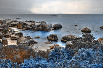 Blue Boulders Beach - HDR - Free image #287369