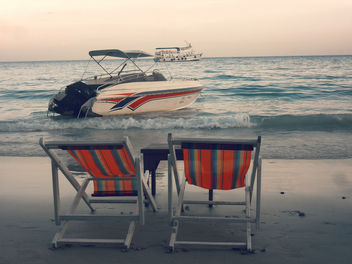 Deck Chairs at Dusk - image gratuit #287399