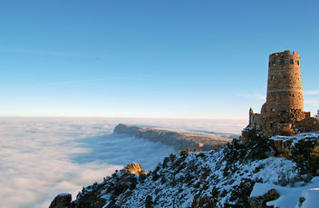 Grand Canyon National Park Cloud Inversion from Desert View: November 29, 2013 photo 0801 - image gratuit #290329