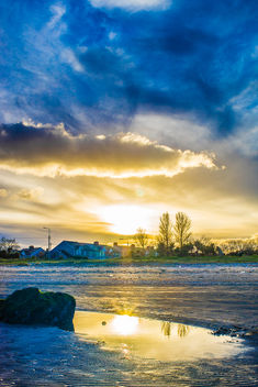 Sunset at Sandymount beach - Free image #291469