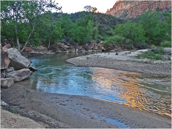 Zion Sunset, Virgin River 4-29-14b - Free image #291999