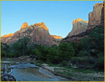 Zion, First Light, Virgin River 4-30-14e - Free image #292079