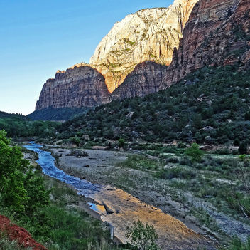 Sunset, Great White Throne, Zion 4-14 - Kostenloses image #294489
