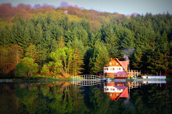 Just another autumn lakeside reflection - image #294559 gratis