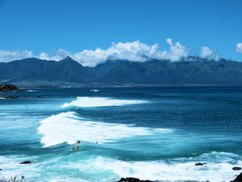 Maui West Mountains and Coast, seen from Hookipa, Sue Salisbury Maui Hawaii - бесплатный image #294669