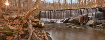 Rock Run Sunrise Falls - Panorama - Free image #295149