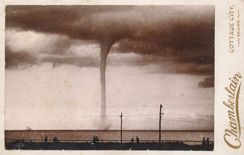 Cabinet card of a water spout - Free image #296539