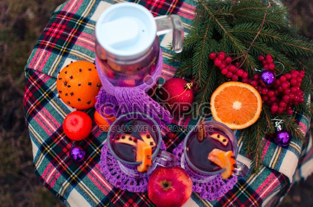 hot mulled wine in beautiful glasses - Free image #297519