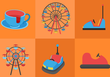 Amusement Park Ride - Free vector #297649