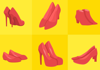 Ruby Shoes - vector gratuit #297669