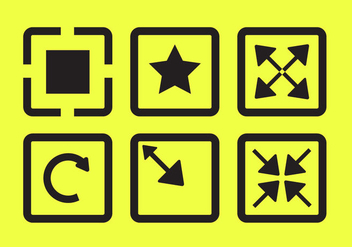 Vector Icons of Full Screen - vector gratuit #297689