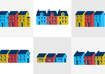 Townhomes - Free vector #297699