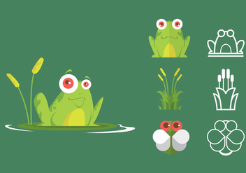 Green Tree Frog Icon Set - vector gratuit #297729