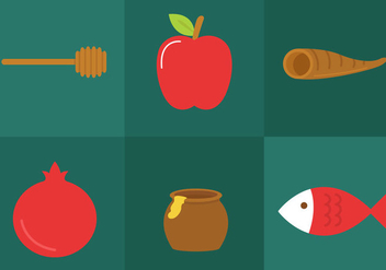 Rosh Hashanah Icon Vectors - бесплатный vector #297749