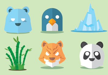 Wild Animal Vector Set - Free vector #297769